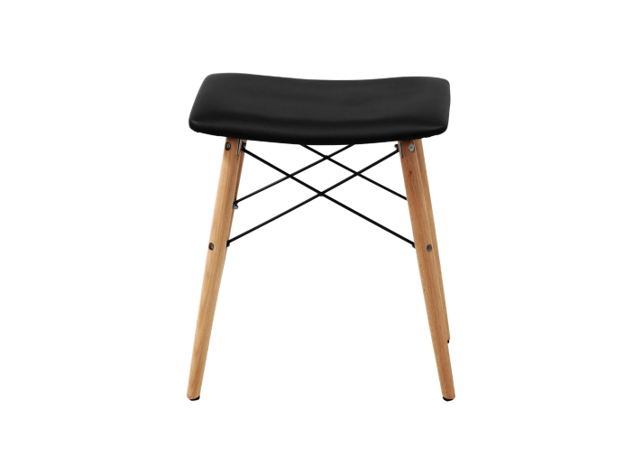 Tabouret bois pu noir fly - Tabouret bar transparent fly ...