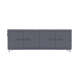 bahut forge 3 portes 1 tiroir chene - fly - Fly Meuble Cuisine