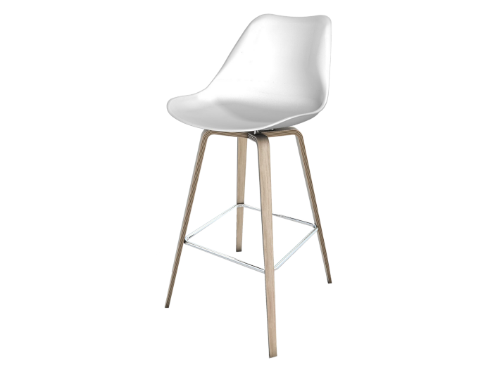 Tabouret bar bois blanc fly - Tabouret bar transparent fly ...