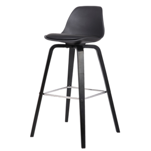 Tabouret de bar chrome assise blanc fly - Tabouret bar transparent fly ...