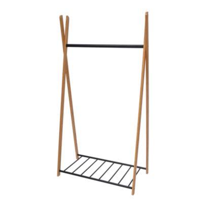 valet porte vetement ikea flyportant xcm bambou et fer epoxy noir with valet porte vetement. Black Bedroom Furniture Sets. Home Design Ideas