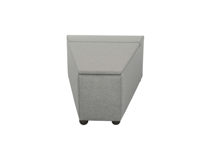 pouf de rangement tissu gris fly. Black Bedroom Furniture Sets. Home Design Ideas