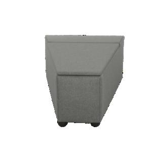 Pouf rectangle canvas gris smoke fly - Pouf gris anthracite ...