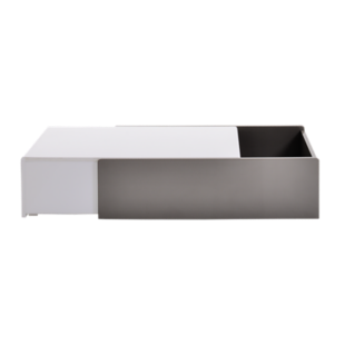 FLY-table basse laque blanc et gris