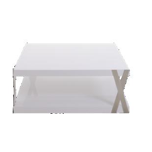 FLY-table basse blanc/metal