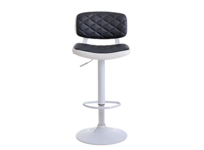 Tabouret bar polyurethane gris pieds blanc fly - Tabouret bar transparent fly ...