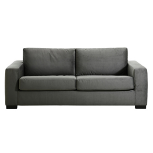 FLY-canape convertible 2 pl tissu gris