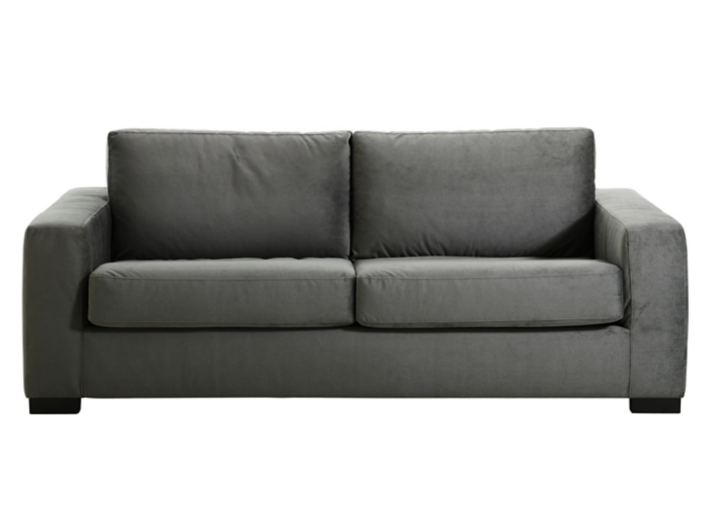 Canape convertible 2 pl tissu gris fly - Canape convertible 2 places fly ...