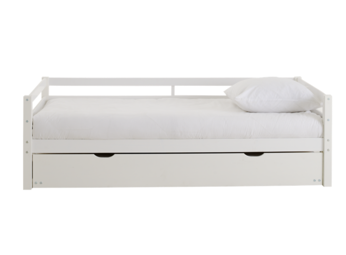 lit gigogne 90x190 cm pin blanc lit literie fly. Black Bedroom Furniture Sets. Home Design Ideas