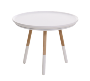 FLY-table basse h35 naturel et blanc
