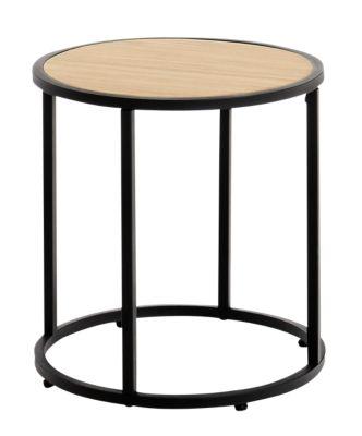 accueil table basse ronde h noir et pin cliquez pour agrandir with table basse ronde fly. Black Bedroom Furniture Sets. Home Design Ideas