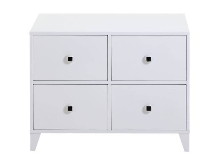 Commode 4 tiroirs blanc commode chambre meuble fly - Meuble commode chambre ...