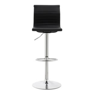 Tabouret de bar assise rouge pieds chrome fly - Chaise de bar fly ...