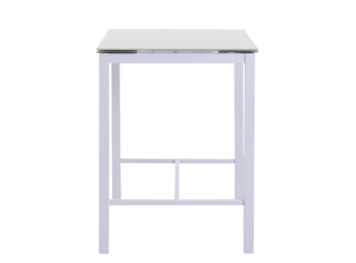 table extensible l80 a 120 cm blanc verre gris fly. Black Bedroom Furniture Sets. Home Design Ideas