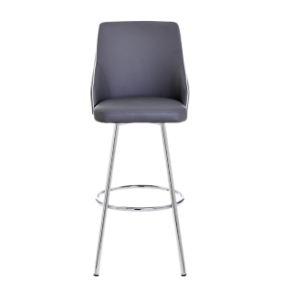 Tabouret de bar assise rouge pieds chrome fly - Tabouret bar transparent fly ...