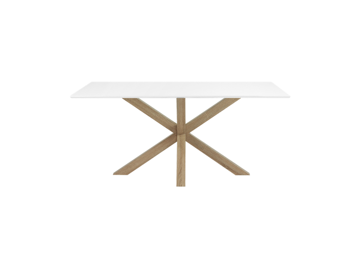 Table rectangulaire blanche chene l160 fly - Table blanche fly ...