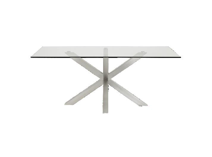Table rectangulaire verre acier l200 fly for Meuble acier fly