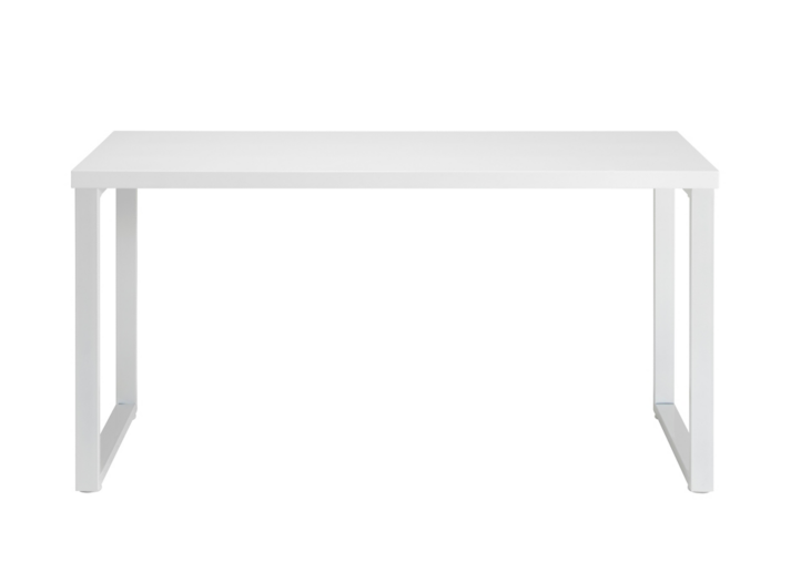 Bureau blanc brillant fly for Bureau simple blanc