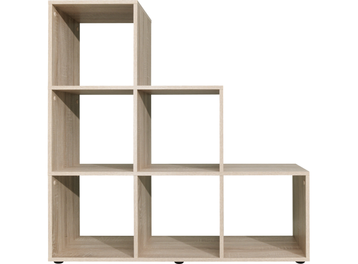 Etagere escalier 6 cases chene biblioth que salon for Meuble 6 cases escalier