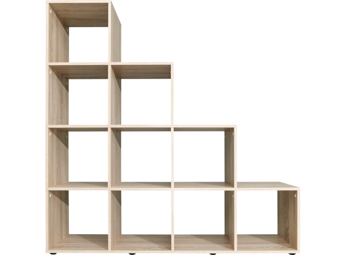 etagere escalier 10 cases chene biblioth que salon s jour meuble fly. Black Bedroom Furniture Sets. Home Design Ideas