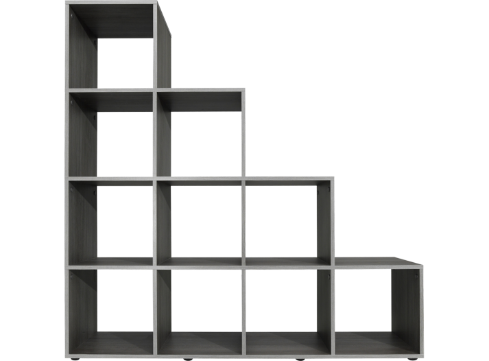 Etagere escalier 10 cases gris fly - Etagere bibliotheque fly ...