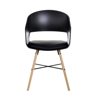 FLY-chaise bois/noir