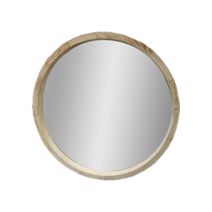 FLY-miroir d.52cm cadre bois