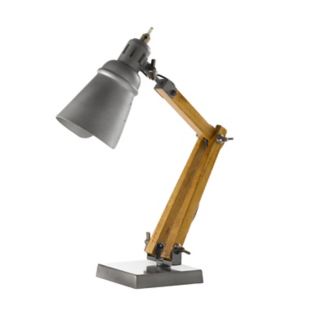 FLY-lampe a poser h44cm hevea/aluminium