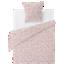 FLY-housse de couette coton 140x200+1taie rose