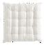 FLY-galette de chaise lina 40x40 ivoire/gris