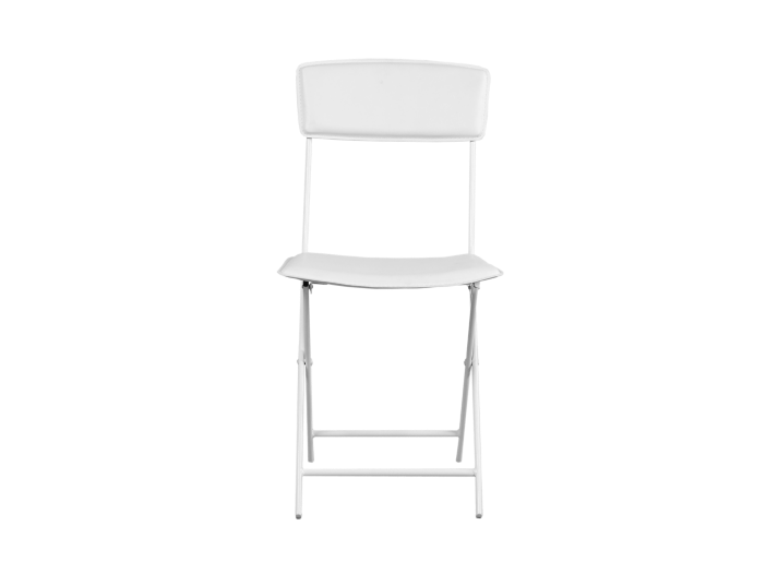 Chaise pliante blanche fly - Table blanche fly ...