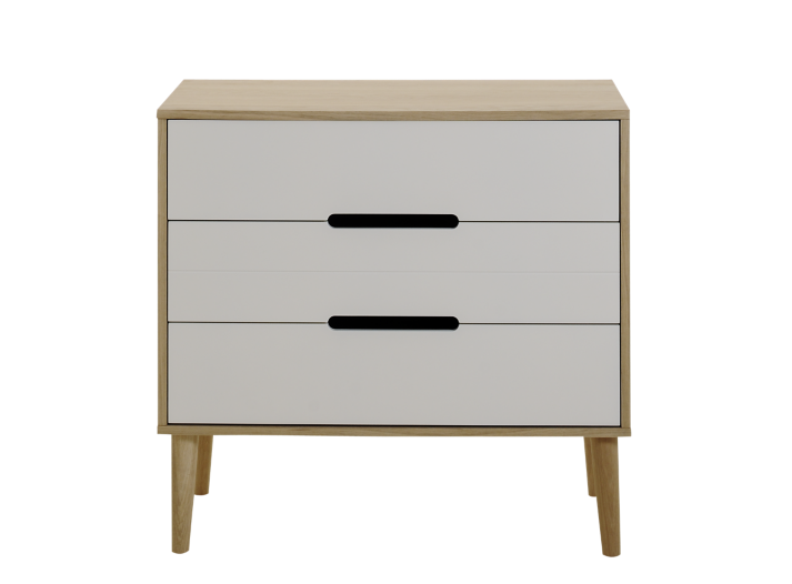 Commode chene laque blanc fly - Commode blanc laque fly ...