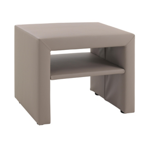 FLY-chevet 1 tablette pu taupe