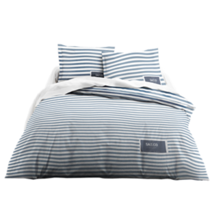 Housse de couette 220x240cm 2taies coton bleu n fly for Housse couette fly