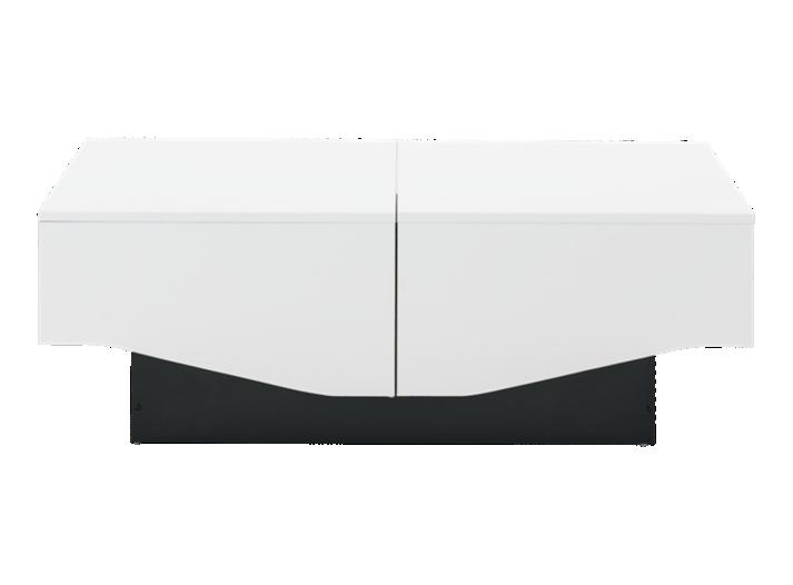 table basse coffre blanc et noir laque fly. Black Bedroom Furniture Sets. Home Design Ideas