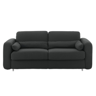 FLY-canape convertible 2 places tissu noir