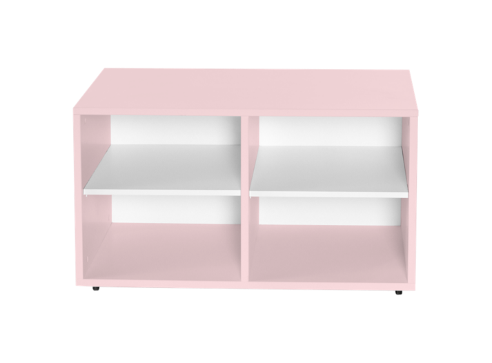 caisson 4 cases a roulettes laque rose lit enfant lit literie fly. Black Bedroom Furniture Sets. Home Design Ideas
