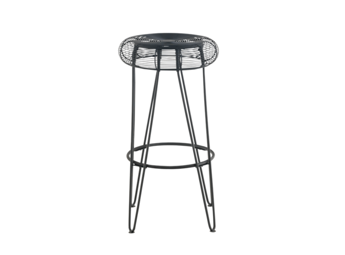Tabouret de bar noir fly - Tabouret bar transparent fly ...