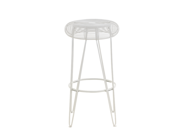 Tabouret de bar blanc fly - Tabouret bar transparent fly ...
