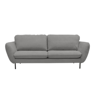 FLY-canape fixe 3 places tissu gris clair