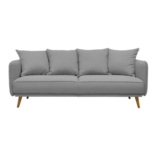 FLY-canape 3 places tissu gris