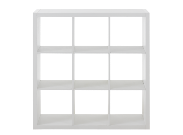 etagere 3x3 niches blanche biblioth que salon s jour meuble fly. Black Bedroom Furniture Sets. Home Design Ideas