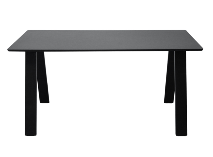 Table rectangulaire noire fly for Miroir rectangulaire fly