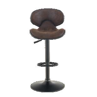 tabouret de bar chrome assise blanc fly. Black Bedroom Furniture Sets. Home Design Ideas