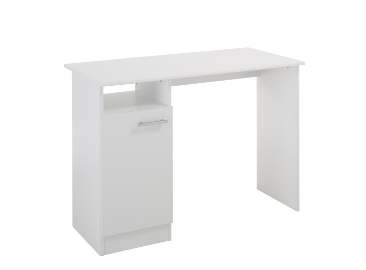 bureau l100 cm blanc fly. Black Bedroom Furniture Sets. Home Design Ideas
