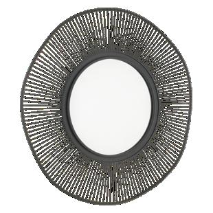 FLY-miroir 93x93cm cadre metal noir