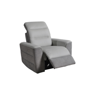 fauteuil relax electrique tissu gris pu gris fly. Black Bedroom Furniture Sets. Home Design Ideas