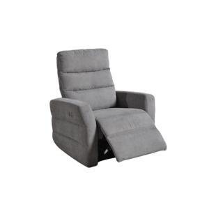 fauteuil relax electrique pu gris tissu gris fly. Black Bedroom Furniture Sets. Home Design Ideas