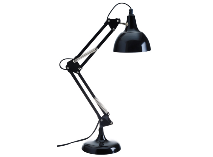 lampe de bureau articulee h 60 cm noir fly. Black Bedroom Furniture Sets. Home Design Ideas