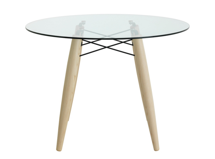 table ronde frene verre fly ForTable Ronde Verre Fly